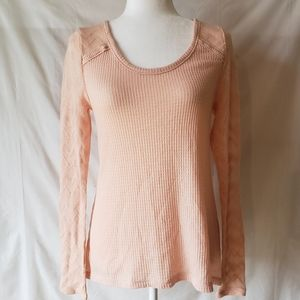 Lucky Brand Ribbed Thermal Top